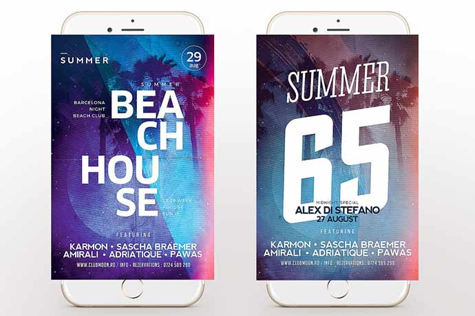 Summer-Flyer - 35+ Attractive Double Exposure PSD Flyer Design [year]