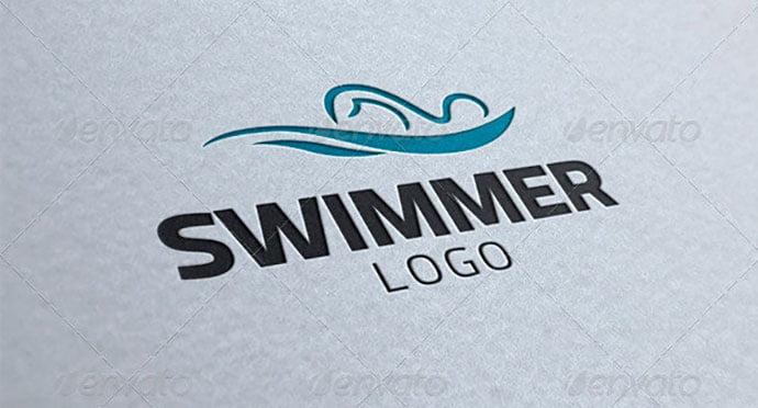 Swimmer - 32+ Amazing Personal Logo Design Templates [year]