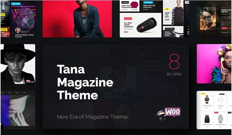 Tana - Top 60+ News Magazine WordPress Themes [year]
