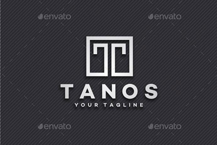 Tanos-–-Letter-T-Logo - 35+ Excellent Monogram Logo Design Templates [year]