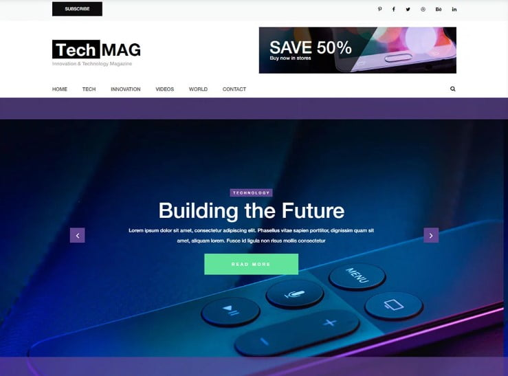 TechMag - 42+ Best Free News Website Templates [year]