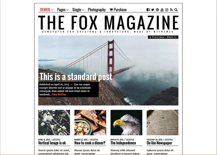 The-Fox-2 - 46+ Best WordPress Newspaper Themes for News Sites [year]