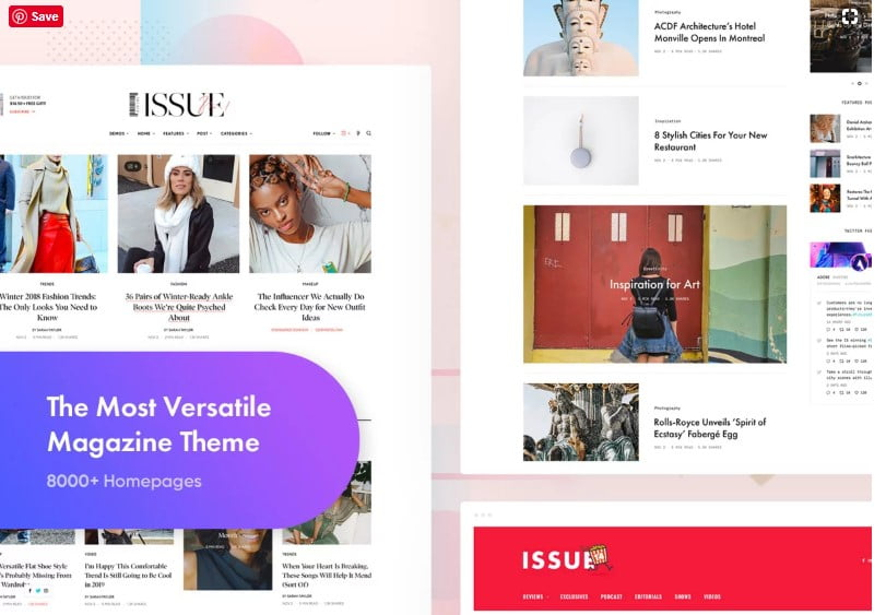 The-Issue - 46+ Best WordPress Newspaper Themes for News Sites [year]