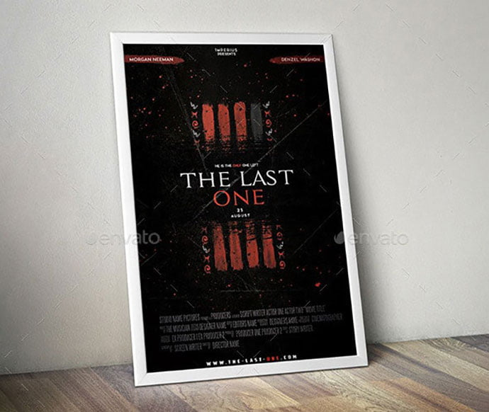 The-Last-One-Movie - 35+ Nice PSD Movie Poster Design Templates [year]