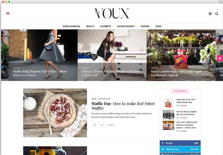 The-Voux - 46+ Best WordPress Newspaper Themes for News Sites [year]