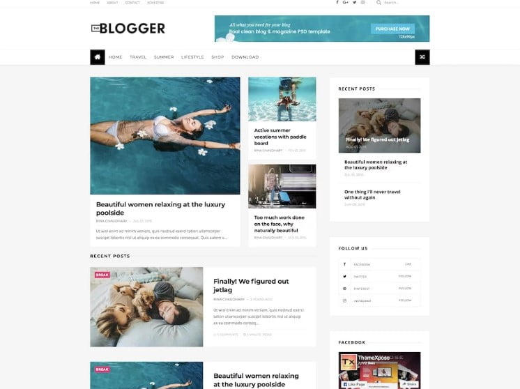 TheBlogger - 60+ Best Free Responsive News Blogger Templates [year]