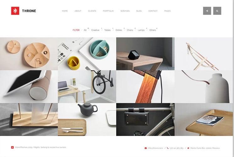 Throne - 38+ Shiny WordPress Themes for Designers [year]