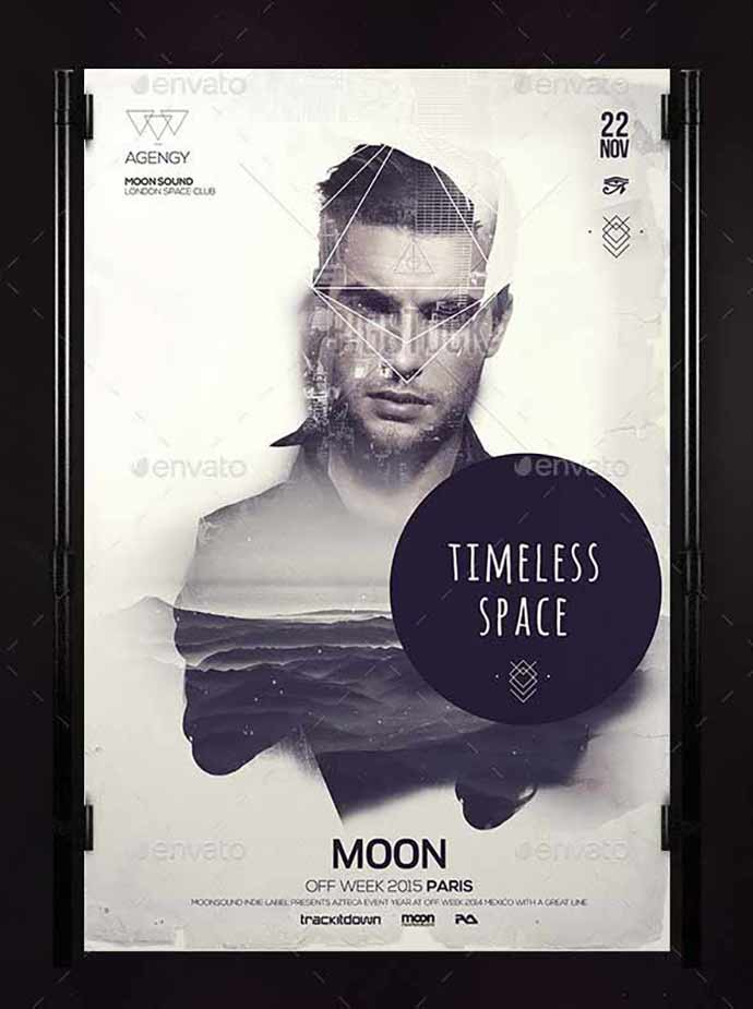 Timeless-Poster - 35+ Attractive Double Exposure PSD Flyer Design [year]