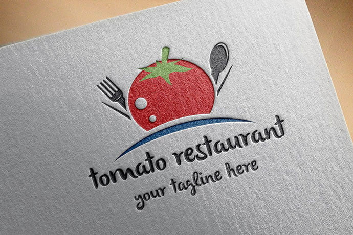 Tomato-Restaurant-Logo - 30+ Stunning Fruit & Vegetable Logo Design Templates