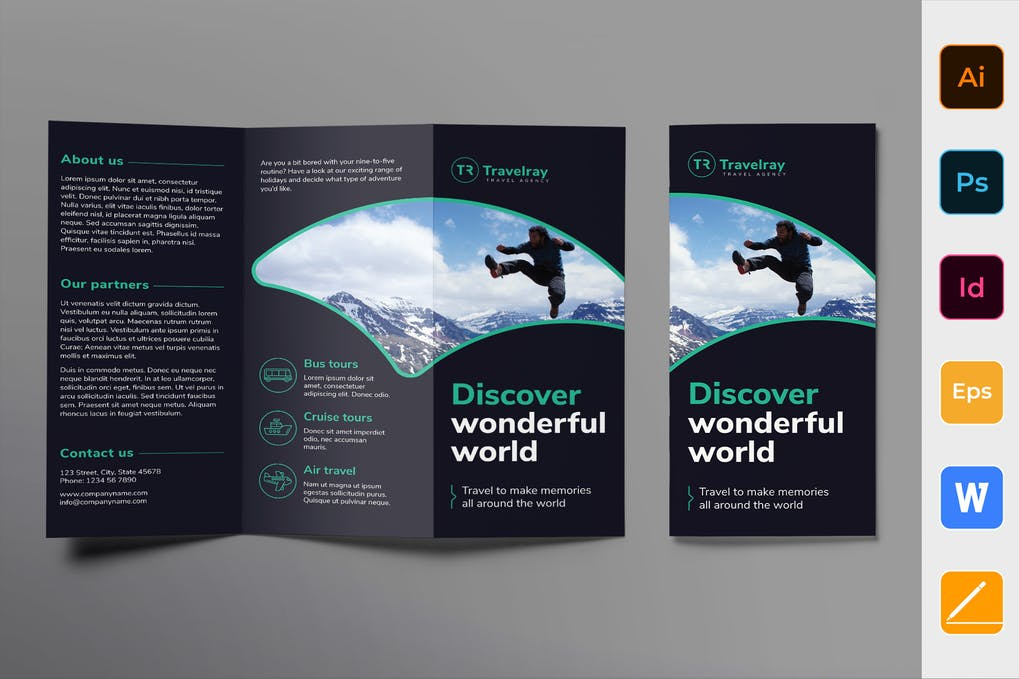Tours-And-Travels-Brochure-Trifold - 35 + Calm PSD & InDesign Travel Brochure Templates [year]