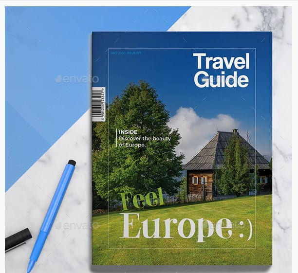 Travel-Guide - 35 + Calm PSD & InDesign Travel Brochure Templates [year]