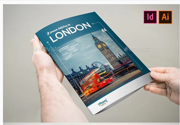 Travel-Holiday-Brochure-3xA4-Trifold - 35 + Calm PSD & InDesign Travel Brochure Templates [year]