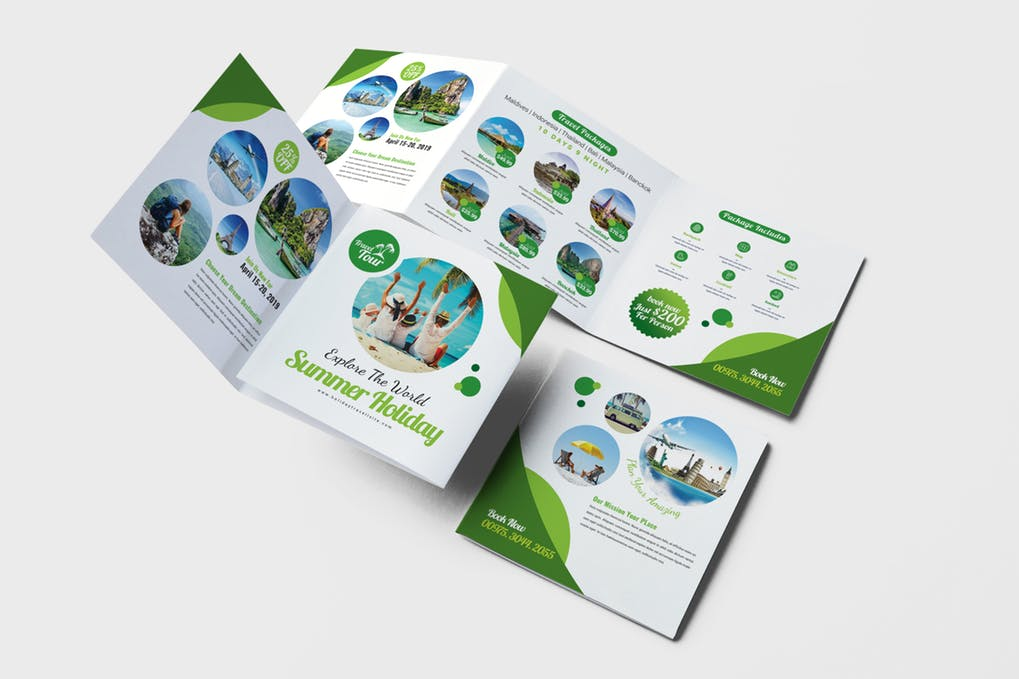 Travel-Square-Trifold-Brochure - 35 + Calm PSD & InDesign Travel Brochure Templates [year]