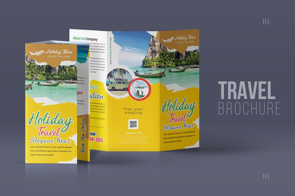 Travel-Trifold-Brochure-2 - 35 + Calm PSD & InDesign Travel Brochure Templates [year]