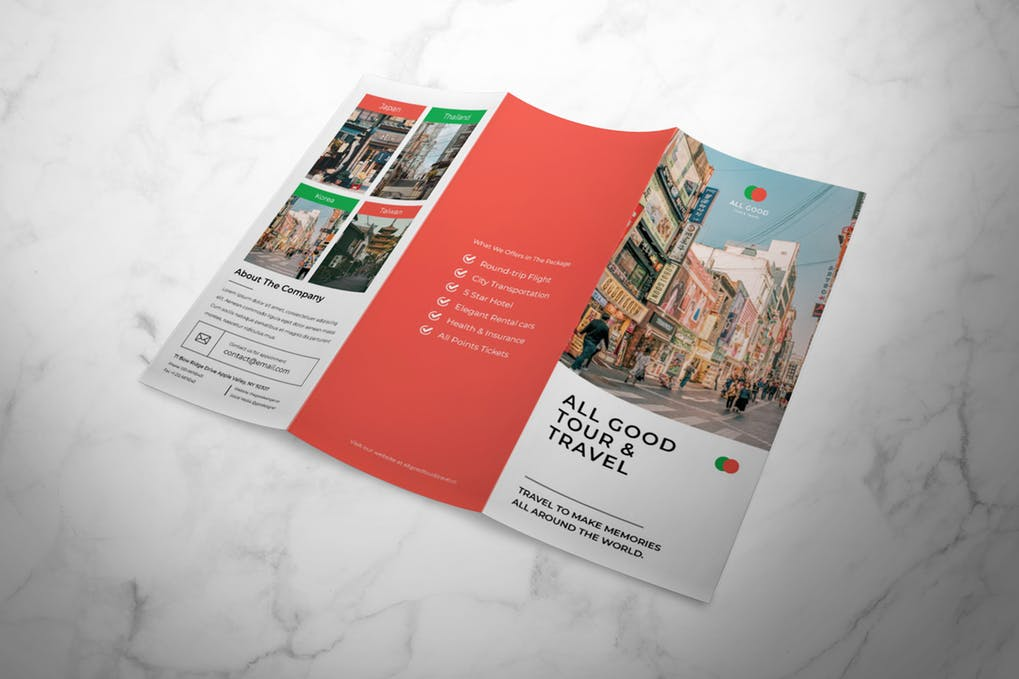 Travel-Trifold-Brochure - 35 + Calm PSD & InDesign Travel Brochure Templates [year]