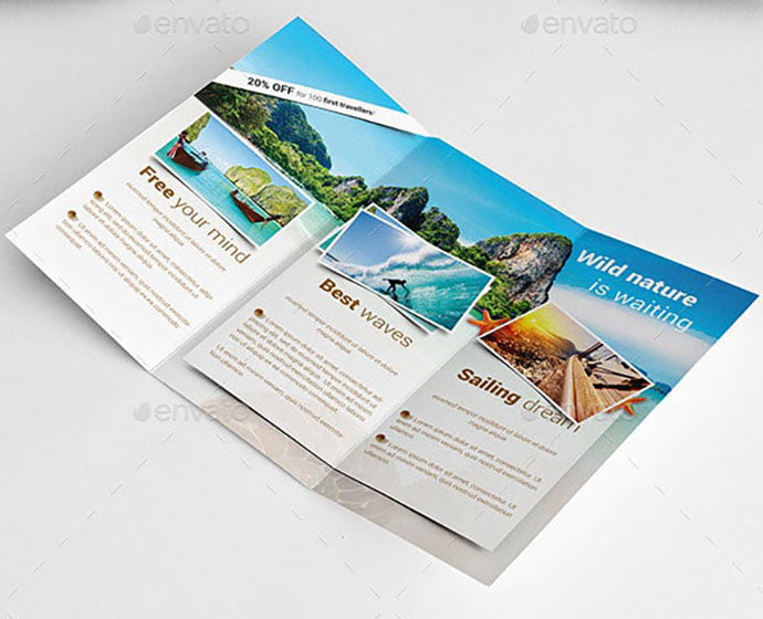Travel - 35 + Calm PSD & InDesign Travel Brochure Templates [year]