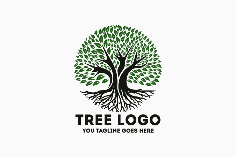 Tree-Logo - 60+ Strong Tree Logo Design Templates [year]