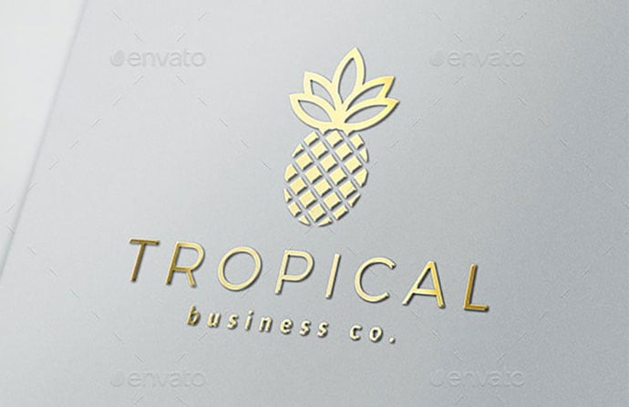 Tropical-Logo - 30+ Stunning Fruit & Vegetable Logo Design Templates