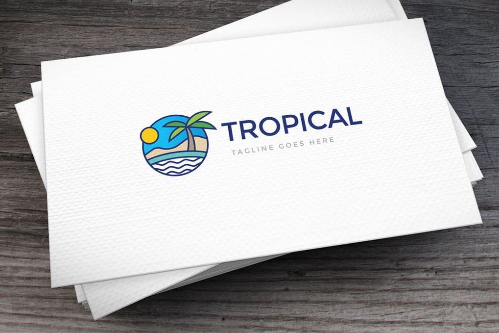 Tropical - 60+ Strong Tree Logo Design Templates [year]