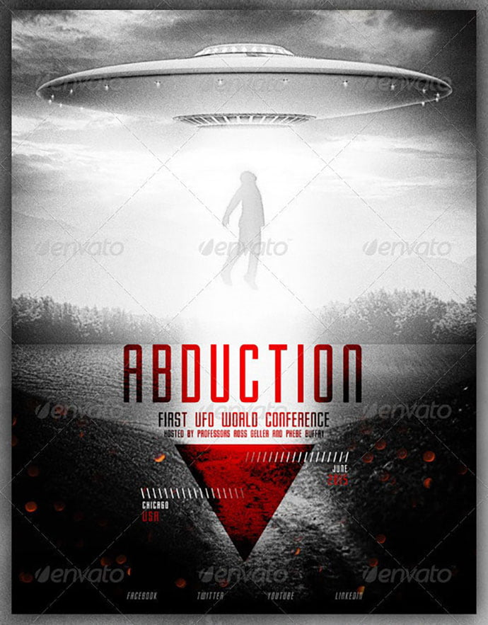 UFO - 35+ Nice PSD Movie Poster Design Templates [year]