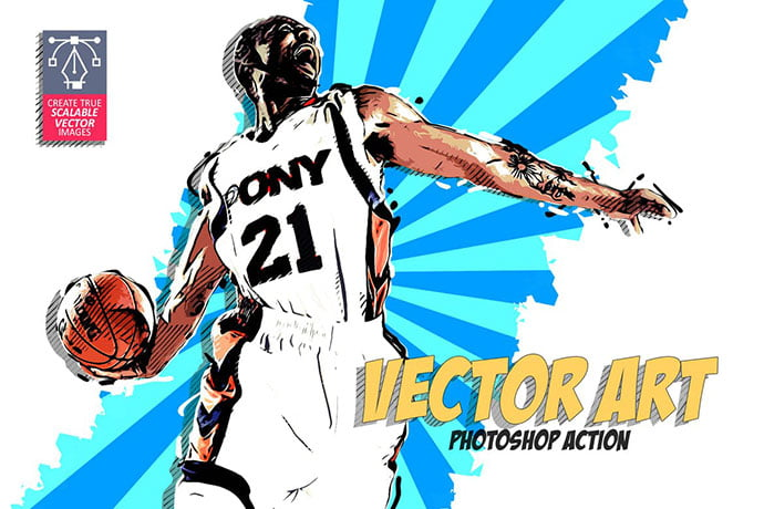 Vector-Art-Photoshop-Action-2 - 30+ Comic Style Photoshop Actions [year]