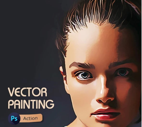 Vector-Painting-Photoshop-Action-2 - 30+ Amazing Portrait Photoshop Actions [year]