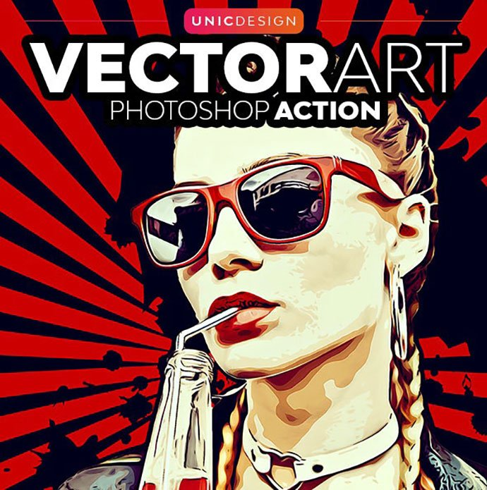 VectorArt-Photoshop-Action - 30+ Amazing Portrait Photoshop Actions [year]