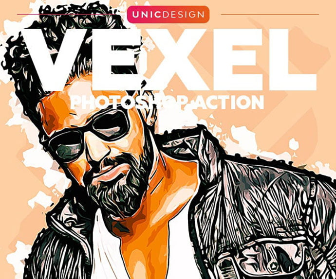 Vexel-Photoshop-Action - 30+ Amazing Portrait Photoshop Actions [year]