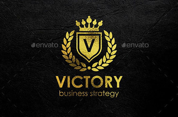 Victory-Heraldic-Elegant - 35+ Amazing Heraldry Logo Design Templates [year]