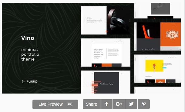 Vino-1 - 35+ Minimal WordPress Theme Designs For Creatives [year]