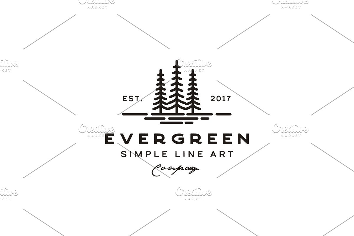 Vintage-Evergreen-Pine-tree-Logo - 60+ Strong Tree Logo Design Templates [year]