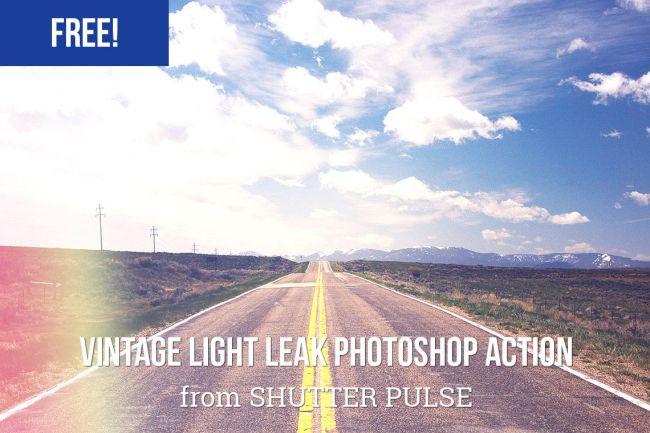 Vintage-Light-Leak - 64+ FREE Amazing Photoshop Actions [year]