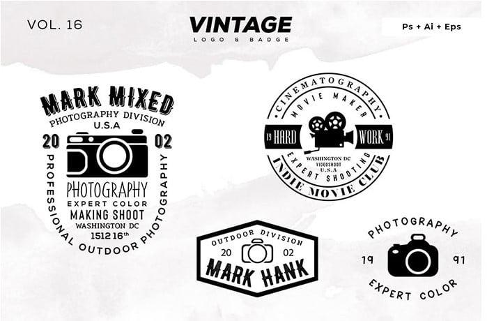 Vintage-Logo-Badge - 30+ Amazing Hand Drawn Badge Logo Design Templates [year]