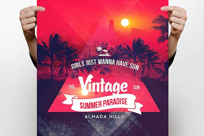 Vintage-Summer-Flyer - 35+ Attractive Double Exposure PSD Flyer Design [year]