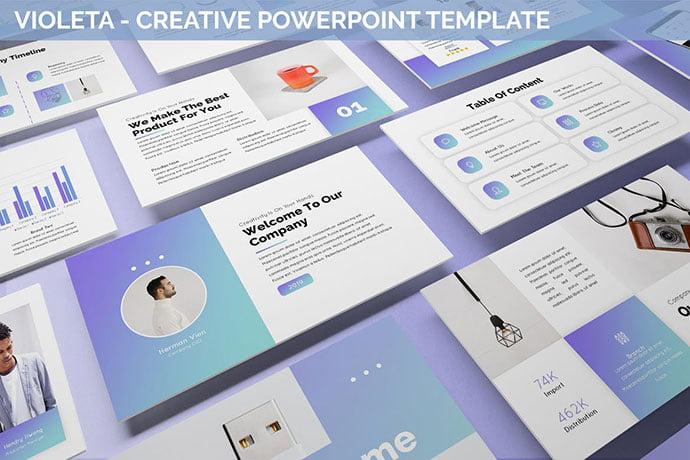 Violeta - 35+ Blast of Bright PowerPoint Templates [year]