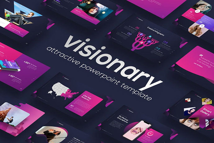 Visionary - 35+ Blast of Bright PowerPoint Templates [year]