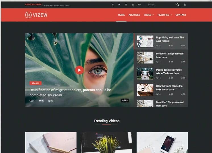 Vizew - 42+ Best Free News Website Templates [year]