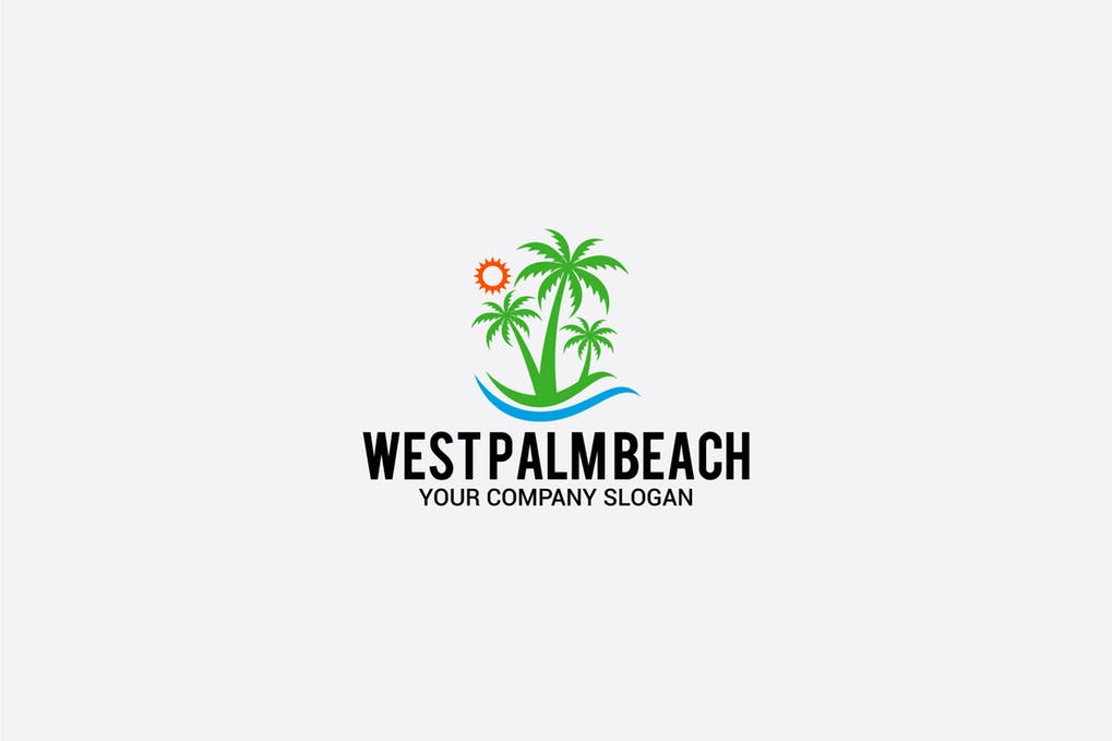 WEST-PALM-BEACH - 60+ Strong Tree Logo Design Templates [year]