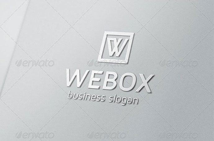 Webox-W-Logo - 35+ Excellent Monogram Logo Design Templates