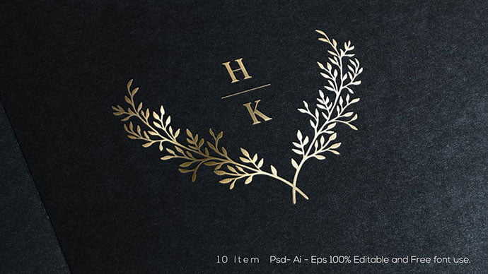 Wedding - 35+ Excellent Monogram Logo Design Templates