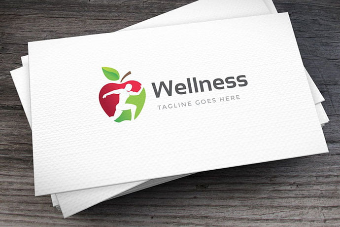 Wellness-Logo-Template - 30+ Stunning Fruit & Vegetable Logo Design Templates