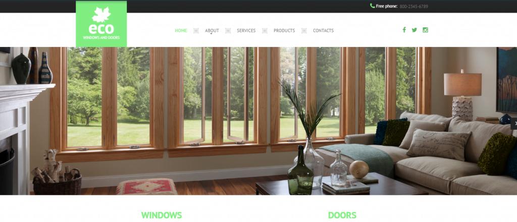 Windows-Doors - 60+ HTML Interior & Furniture Website Templates [year]