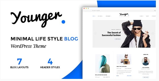Younger-Blogger - 35+ Awesome One Page Creative Blogger Template [year]