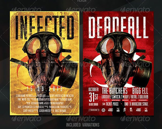 Zombie-Flyer-Poster - 35+ Nice PSD Movie Poster Design Templates [year]