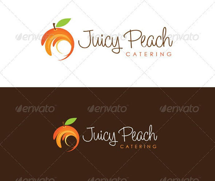 fruit - 30+ Stunning Fruit & Vegetable Logo Design Templates