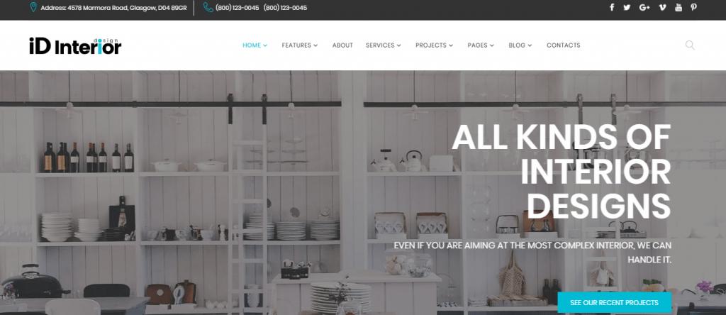 iD-Interior - 60+ HTML Interior & Furniture Website Templates [year]