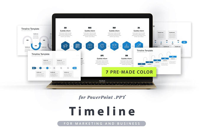 timeline-powerpoint-template-1 - 30+ Wonderful Timeline PowerPoint Templates [year]
