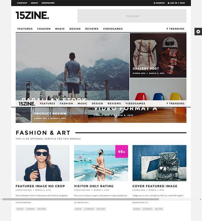 15Zine - 45+ Magazine & Blog WordPress Themes To Make Your Website [year]