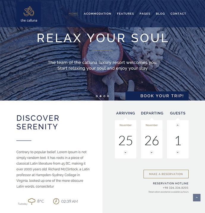 22-1 - 30+ Amazing Resorts & Hotels WordPress Themes [year]
