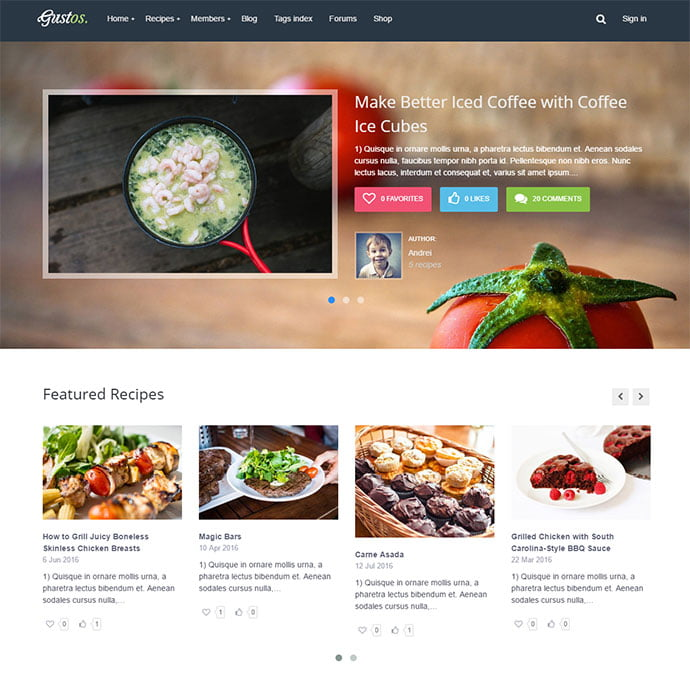 222-1 - 36+ Delicious Cooking Idea Share WordPress Themes [year]